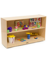 Childrens Straight Storage Unit with Baltic Birch Construction