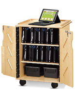 Rolling Laptop & Tablet Storage Cart