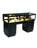Lockable Jewelry Display Case with Mirror Doors