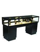 "70"" Wide Locking Jewelry Display Case"