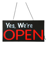 "Sqaure Horizontal LED ""Yes We're Open"" Sign"