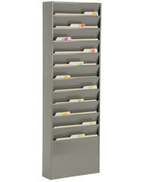 metal wall file holder. Metal Gray Finish Wall File Holder C