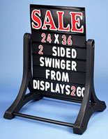 Two Sided Outdoor Changeable Letter Board?Black Background
