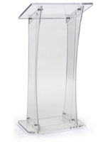 Collapsible Acrylic Podium with Rubber Feet