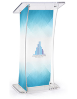 Non-Glare Lectern with Custom Design for Brand Exposure