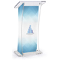 Non-Glare Lectern with Custom Design, Replacement Graphics Available