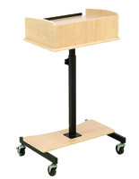 Maple Laptop Lectern with Tiltable Surface