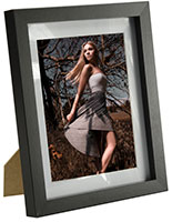 Wood Picture Frame with Easel Backer for Countertops