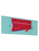 Custom Acrylic Panel Wall Sign for Personalized Messaging