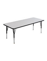 Kids Dry Erase Table with Rectangular Top