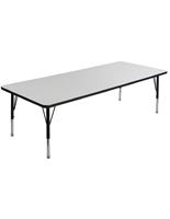 Height Adjustable Childrens Dry Erase Table