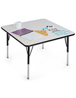 Square Dry Erase Activity Table