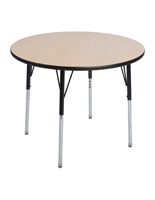 Round Meeting Table with MDF Construction