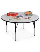 Height Adjustable Whiteboard Daycare Table