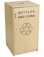 Recycling Containers for Cans and Bottles with Drop Top