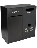 Trash Can Receptacle with Black Finish