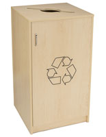 Café Recycling Cabinet with Swing Open Door