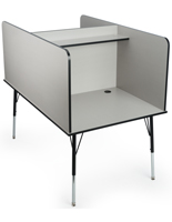 Gray Computer Carrel