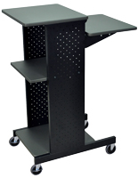 Laptop Station with Wheels, Height Adjustable