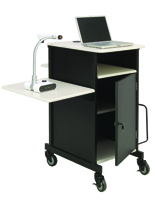 Document Camera Cart with Locking Cabinet