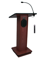 "Simple Podium with Wireless Microphone, 45"" Tall"