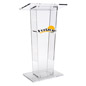 Custom Graphic Transparent Podium, Hardware Included