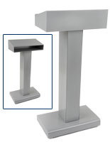 Closed Front Silver Steel Podium