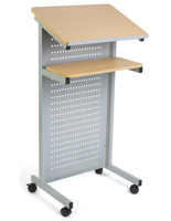 Steel Laptop Podium on Wheels