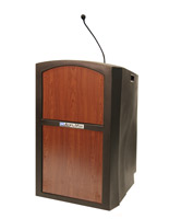 Cherry podium with microphone holder