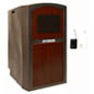 Mahogany Portable Lectern with Sound System