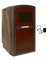 "47"" Tall Lectern with Sound System"