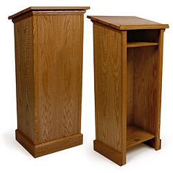 red oak wood pulpit traditional style