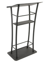 Curved Black Steel Lectern