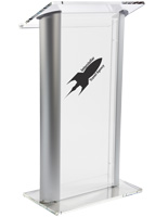 Frosted Plastic Lectern with Imprint for Universities
