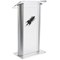Frosted Plastic Lectern with Imprint for Offices