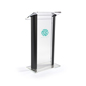 Acrylic Clear & Black Lectern