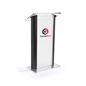 Black Lectern with 14 x 14 Vinyl Imprint Area
