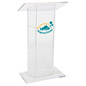 "Custom Graphic Lucite Lectern with 10"" x 10"" Printable Area"