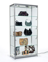 "LED Illuminated Display Cabinet with 92"" Long Power Cord"