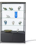 LED Retail Display Cabinet, Fixed Shelves