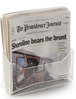 Countertop Lucite Newspaper Display