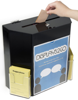Black Suggestion Box with 2 Pockets - Clear View