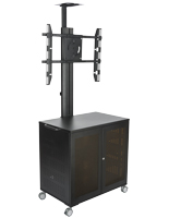 Adjustable Floor Standing TV Cart With Power Management