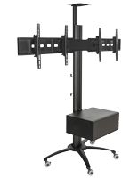 Dual Screen TV Stand With Power Distribution for Community Centers