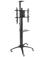 Mobile TV Stand With Power Distribution for Video Conferencing