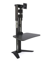 Sit Stand Riser with Keyboard Shelf
