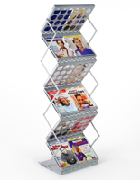 Portable Magazine Display with Gray Finish
