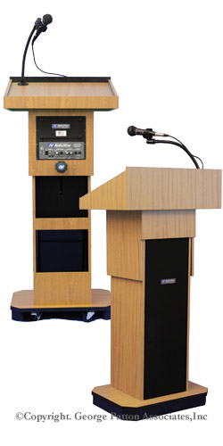 adjustable height podium
