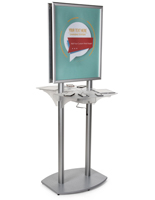 Poster Kiosk Charging Station for Retail Stores