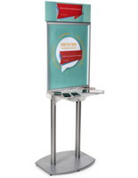 Poster Frame Charging Station Kiosk, Custom Artwork